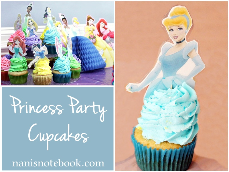 Princess Party Cupcakes