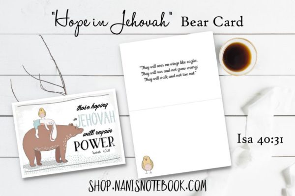 hope bear card