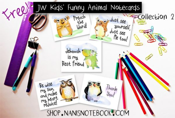 Kids Animal Notecards