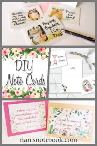 DIY Notecards