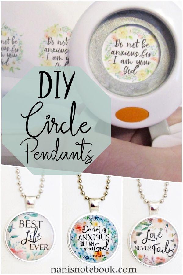 DIY circle pendant jewelry