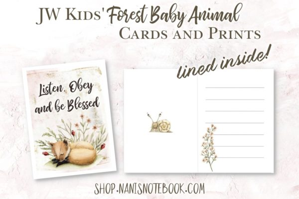 forest baby cards