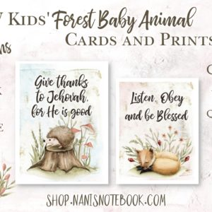 forest baby jw kids prints