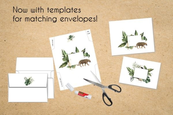 jungle envelopes